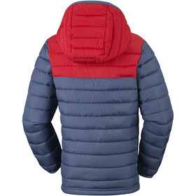 Columbia Powder Lite Chaqueta con capucha Niños, dark mountain/red spark